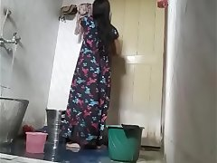 Desi bhabhi Priya Rani taking shower recording her own porn tape