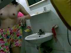 Young 18 Year Old Indian Teen Filmed By Her Brother In Shower